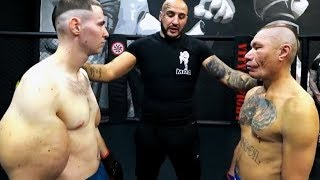Fighter with BIG ARMS clashes the Old man | Strange MMA Fight HD