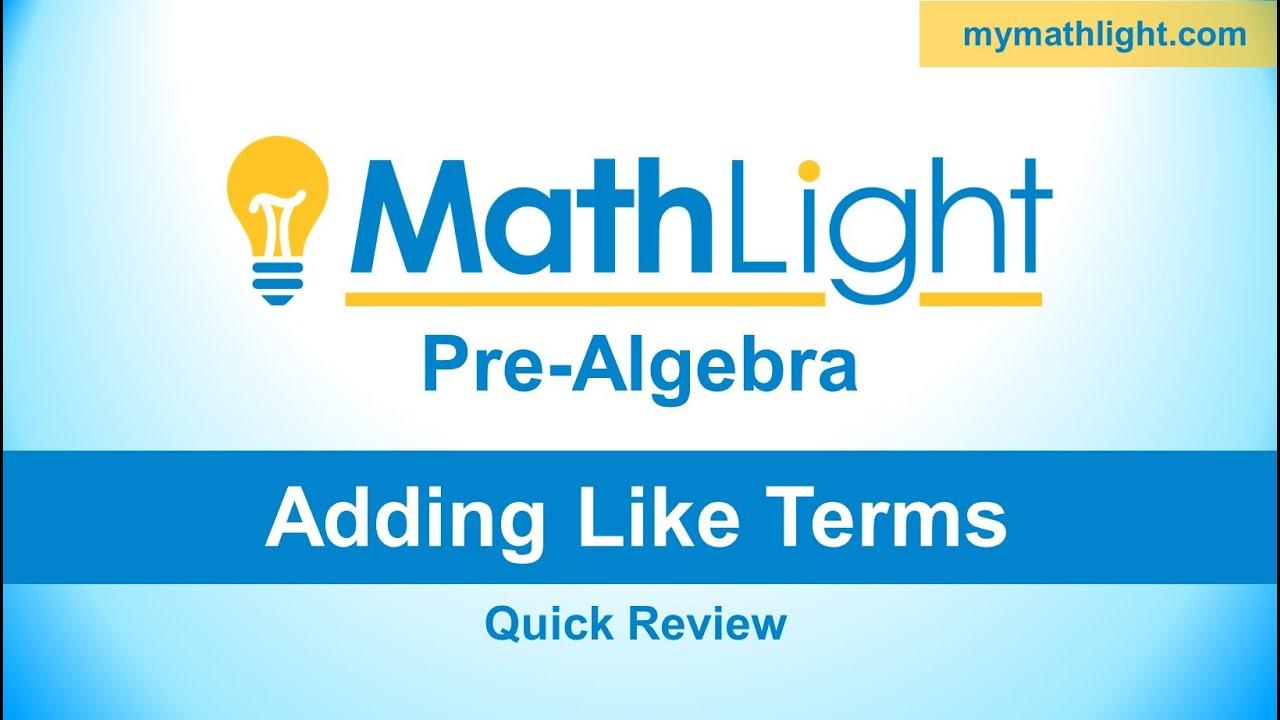 MathLight Pre Algebra | MathLight