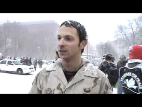 Mike Prysner before arrest