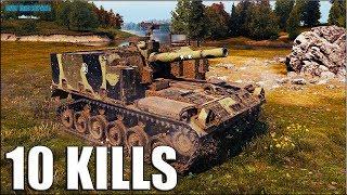 M44 лучшая арта 6 уровня 🌟 10 ФРАГОВ за бой World of Tanks