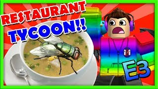 THERE IS A FLY IN MY SOUP!! :: ROBLOX RESTAURANT TYCOON (BETA) E3:: GamerBoyJJM