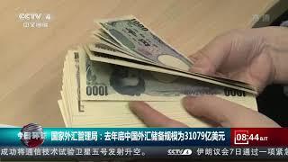 [今日环球]国家外汇管理局:去年底中国外汇储备规模为31079亿美元| CCTV中文国际