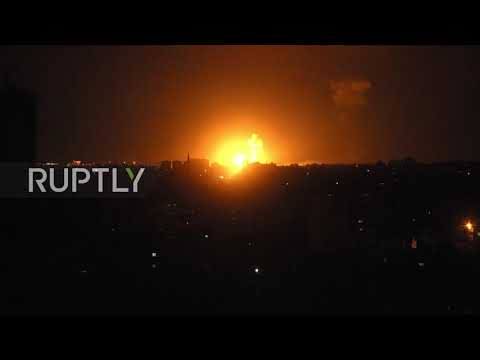 State of Palestine: Flares, explosions light up Gaza following Israeli strikes