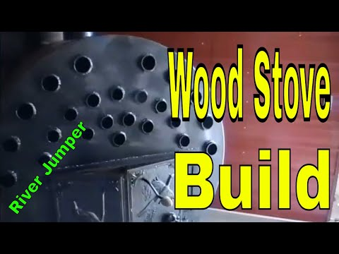 Wood Stove build: We converted a 500-gallon tank into a Wood burning Stove