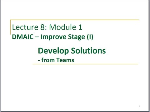 Lecture 8 Module 1 Develop Solutions 1 From Teams