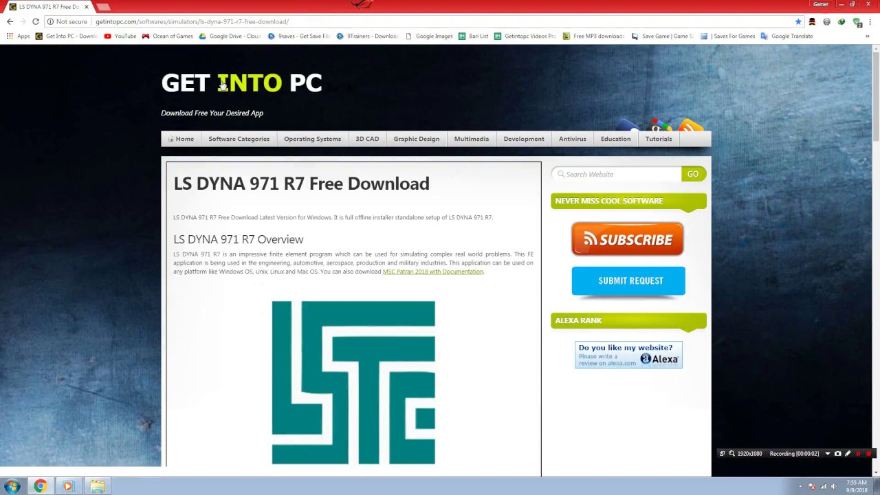 How to download and install LS DYNA R7 for pc