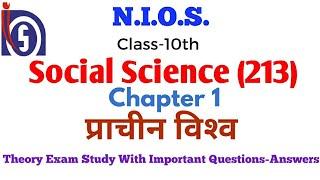 NIOS Class-10, Social Science. Chapter-1