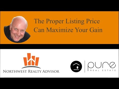 The Proper Listing Price Can Maximize Your Gain