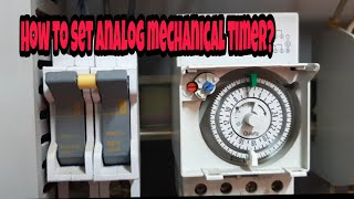 Download How to set analog mechanical timer..