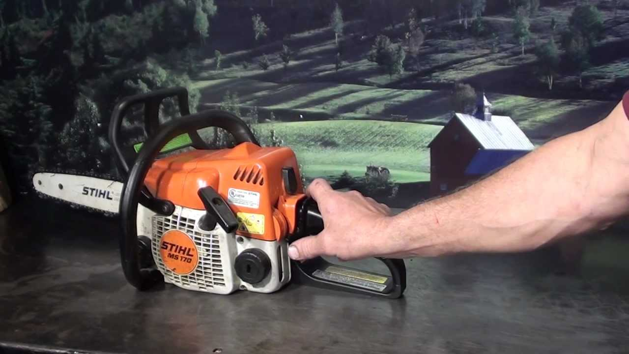 The chainsaw guy shop talk Stihl MS 170 chainsaw 6 12