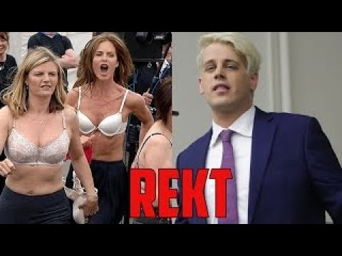 SJW vs LOGIC Milo Yiannopoulos VS Group of Feminist Social Justice Warriors SJW