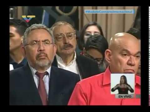 Presidente Nicolás Maduro ofrece rueda de prensa a medios nacionales e internacionales