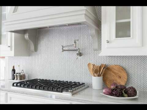 Antique White Herringbone Porcelain Mosaic Tile Youtube