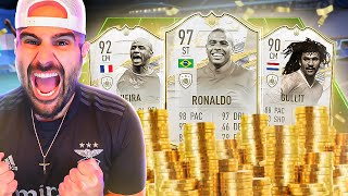 Splashing 7 MILLION Coins On NEW CARDS!! INSANE Moments VIEIRA & R9 Squad.. FIFA 21