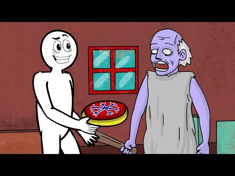 GRANNY THE HORROR GAME ANIMATION #5 | New Freeze Trap and The Scary Granny