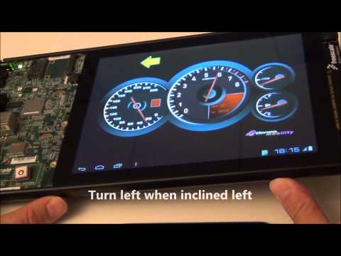 Adeneo Embedded Qt Automotive Digital Dashboard demo running on