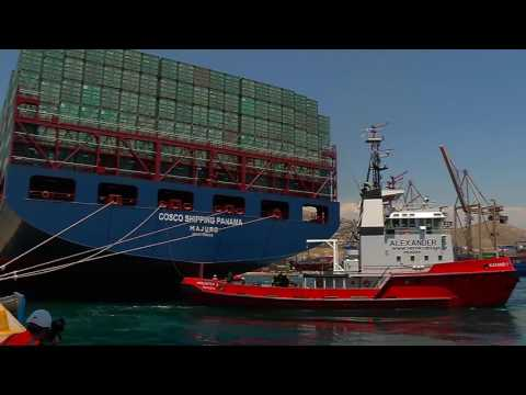 Container Vessel COSCO Shipping Panama Departs Greece to Make History in Panama