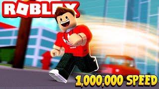 Running at 1,000,000 SPEED! (Roblox Speed Simulator 2)