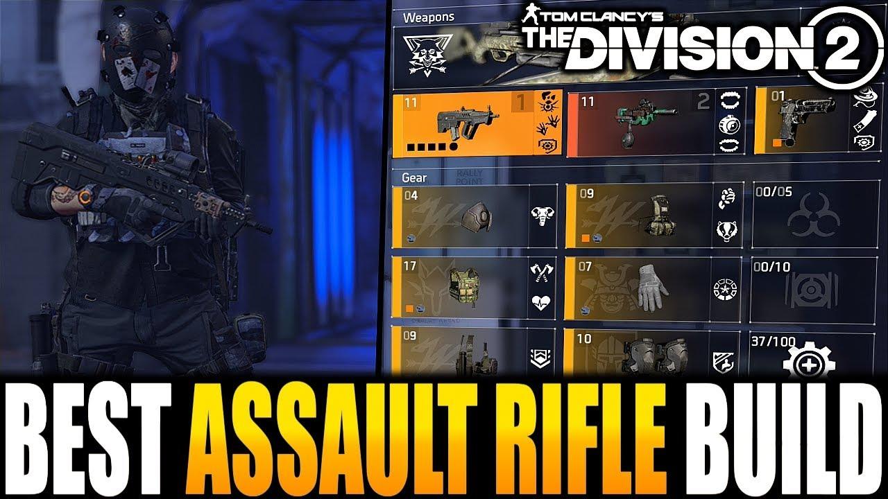 The Division 2 - THE ULTIMATE ASSAULT RIFLE PVP BUILD | BEST DAMAGE &  SURVIVABILITY BUILD