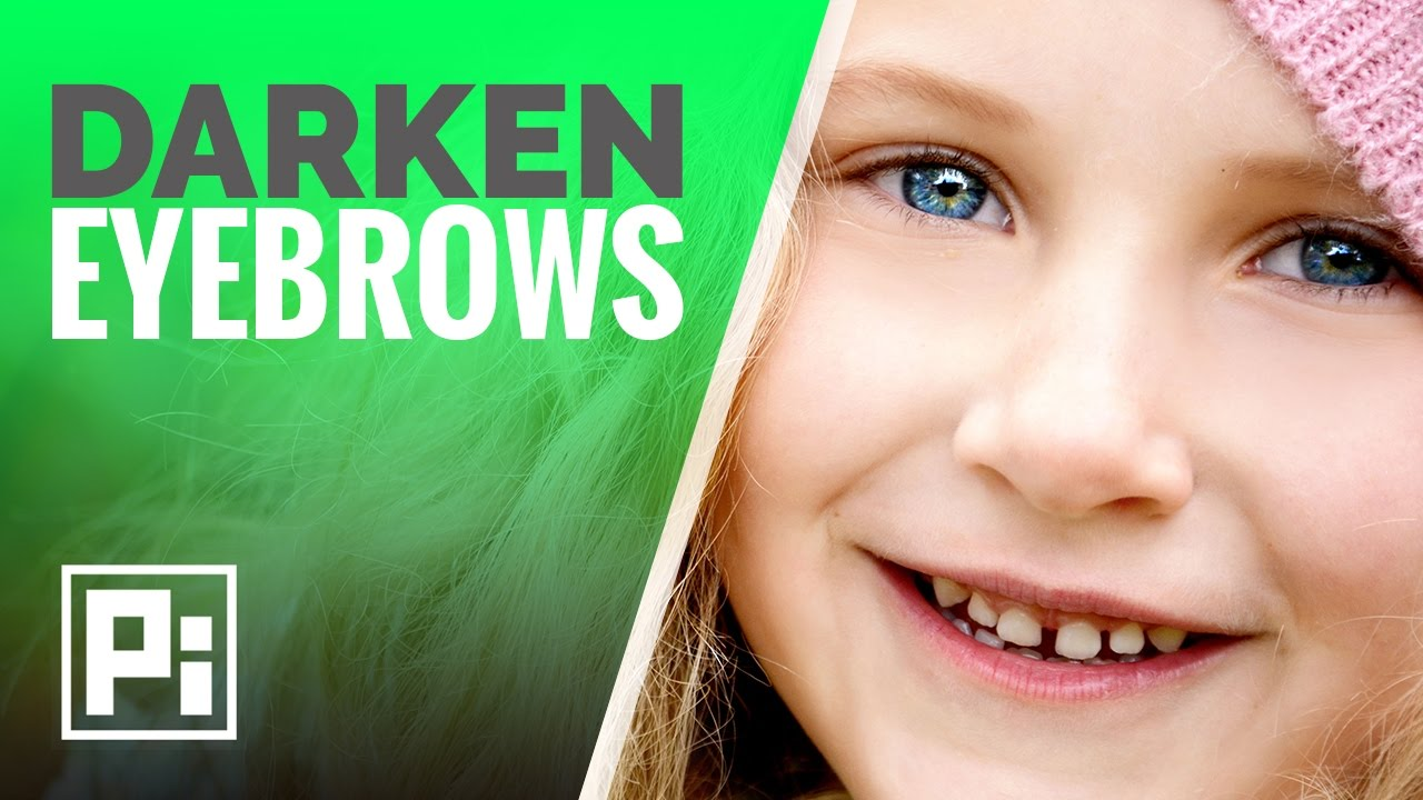 How To Darken Eyebrows In Photoshop Youtube