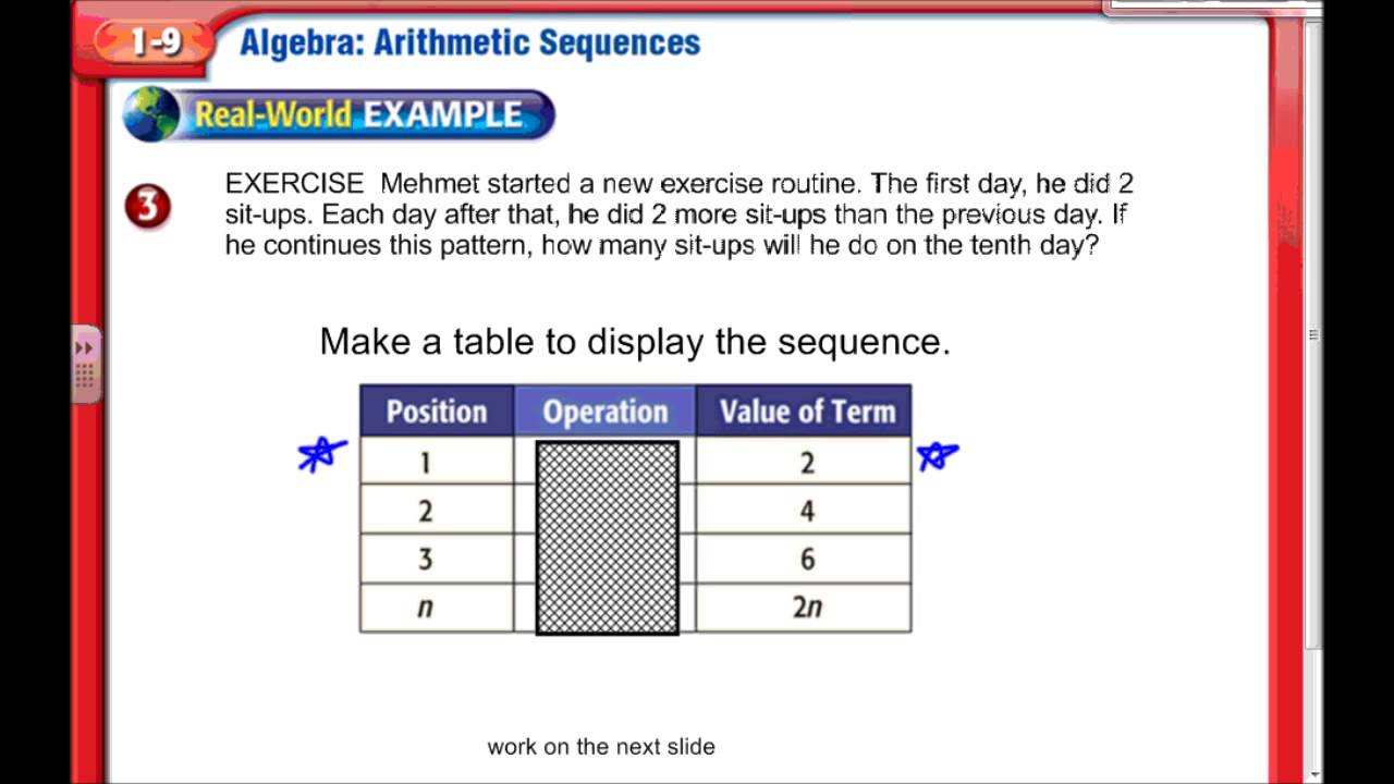 hight resolution of Arithmetic Sequences - Middle School Math - YouTube