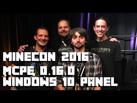 Minecon 2016 - Minecraft Pocket Edition 0.16.0 Panel / Windows 10 #Minecon2016