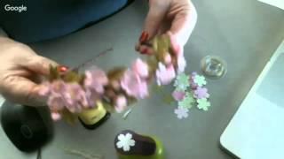 Веточка сакуры из фоамирана