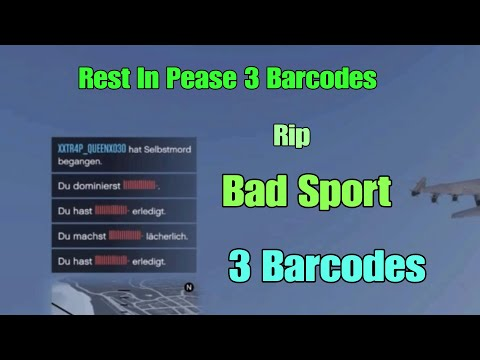 Gta R I P  3 Barcodes of Bad Sport  Rest In Pease