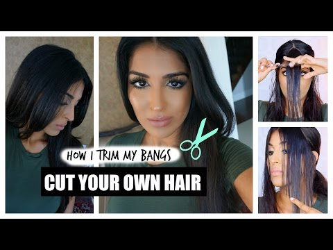 How to Cut Your Own Hair – Bangs