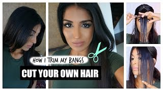 How to Cut Your Own Hair - Bangs
