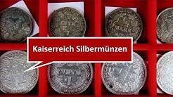 Münzen Deutsches Kaiserreich: Silbermünzen 1 Mark und 1/2 Mark aus der Kaiserzeit als Wertanlage