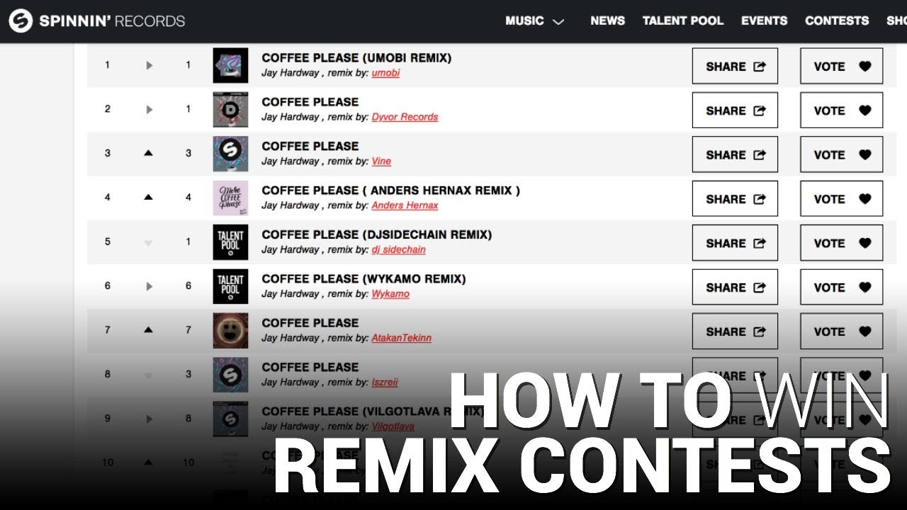 HOW TO WIN REMIX CONTESTS [Spinnin' Talent Pool, Wavo, & More!]