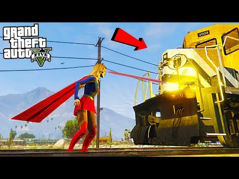 SUPERGIRL MELTS THE TRAIN - GTA 5 Mods