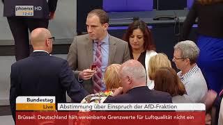 Abstimmung über den Einspruch der AfD-Fraktion zum Ordnungsruf gegen Alice Weidel am 17.05.18