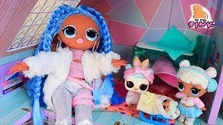 УТРО КУКЛЫ ЛОЛ в ЗИМНЕМ ЗАМКЕ LOL SUPRIRSE OMG Doll MORNING ROUTINE in Winter Disco Chalet Bunk Beds