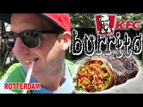Rotterdam Netherlands KFC Burrito Food Travel dude adventure review vlog
