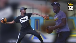 KSI vs. TBJZL: TRAMPOLINE DODGEBALL! | Rule'm Sports