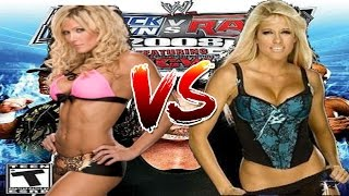 WWE Smackdown vs Raw 2008 Torrie Wilson vs Kelly Kelly