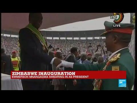 Zimbabwe: Army salutes president Emmerson Mnangagwa during inauguration