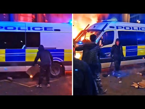 Bristol riots: New footage shows attempt to set fire to police van