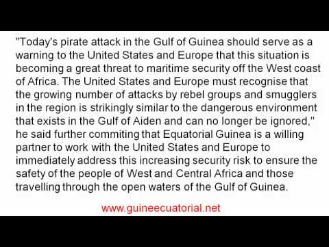 Obiang warns US and Europe of growing piracy in Gulf of Guinea