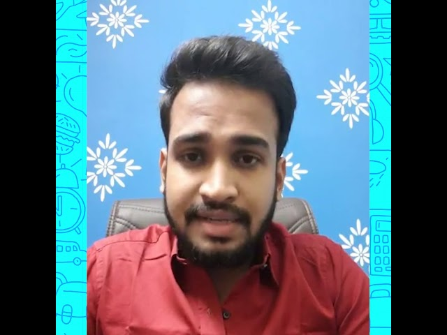 Sharing the video of one of our former students - Sourav Saha.