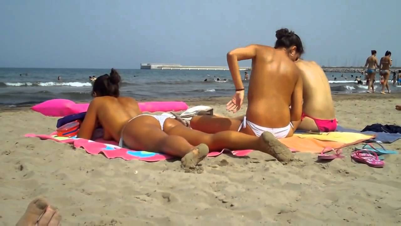 Topless beach spain