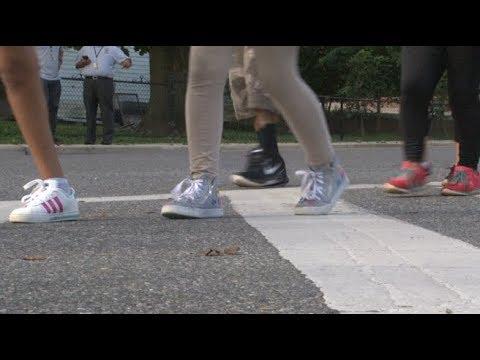 Gaithersburg Elementary School participates in National Walk to School Day