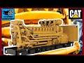 4000HP V16 Caterpillar CAT C175 Acert  2.4MVa 11KV Diesel Engine Start Up & Walk Around