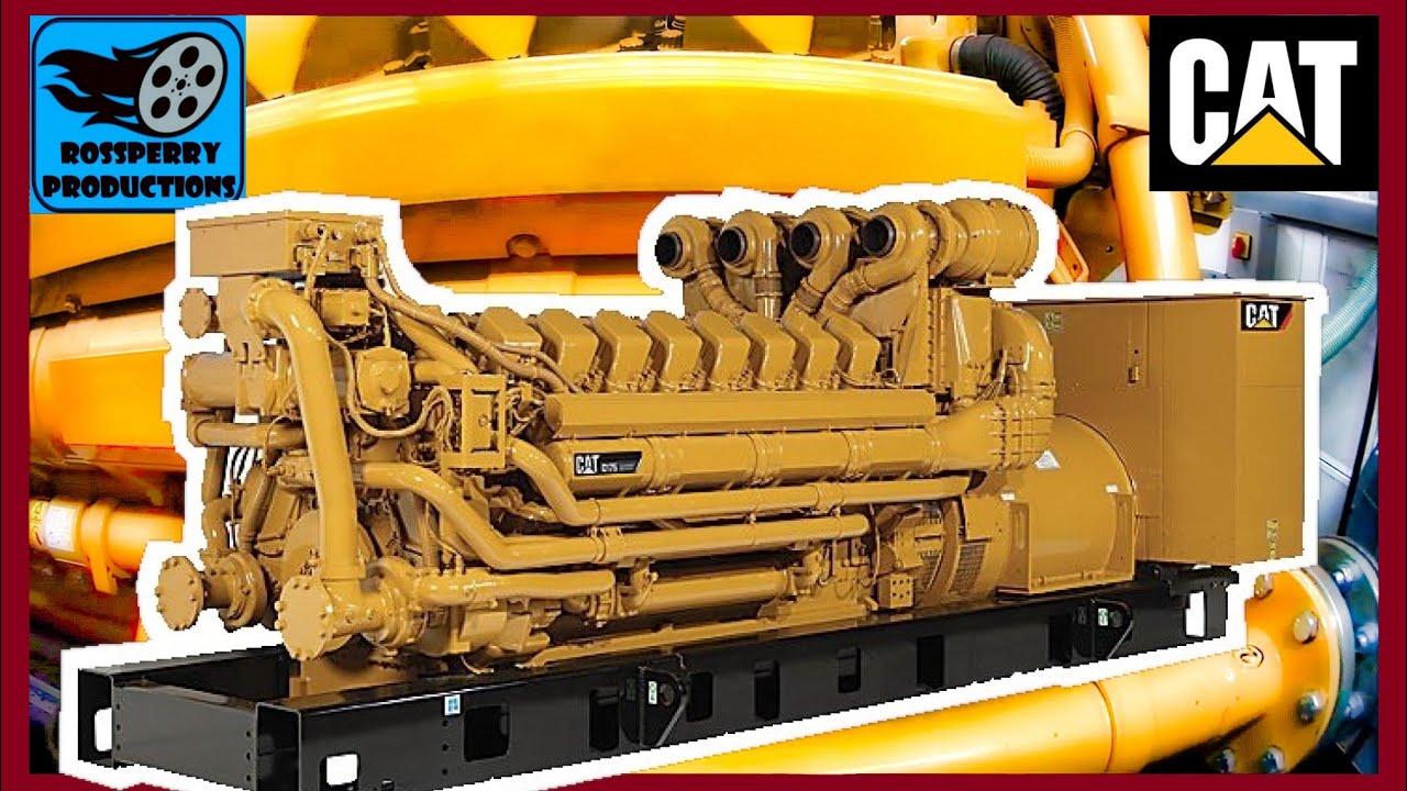 caterpillar cat c175 acert 4000hp v16 2 4mva 11kv diesel engine start up walk around youtube. Black Bedroom Furniture Sets. Home Design Ideas