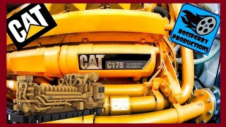 4000HP V16 Caterpillar CAT C175 Acert  2.4MVa 11KV Diesel Engine Start Up & Walk Around