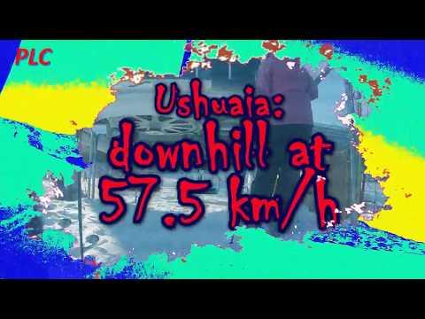 Downhill at 575 kmh  - Ushuaia - Argentina