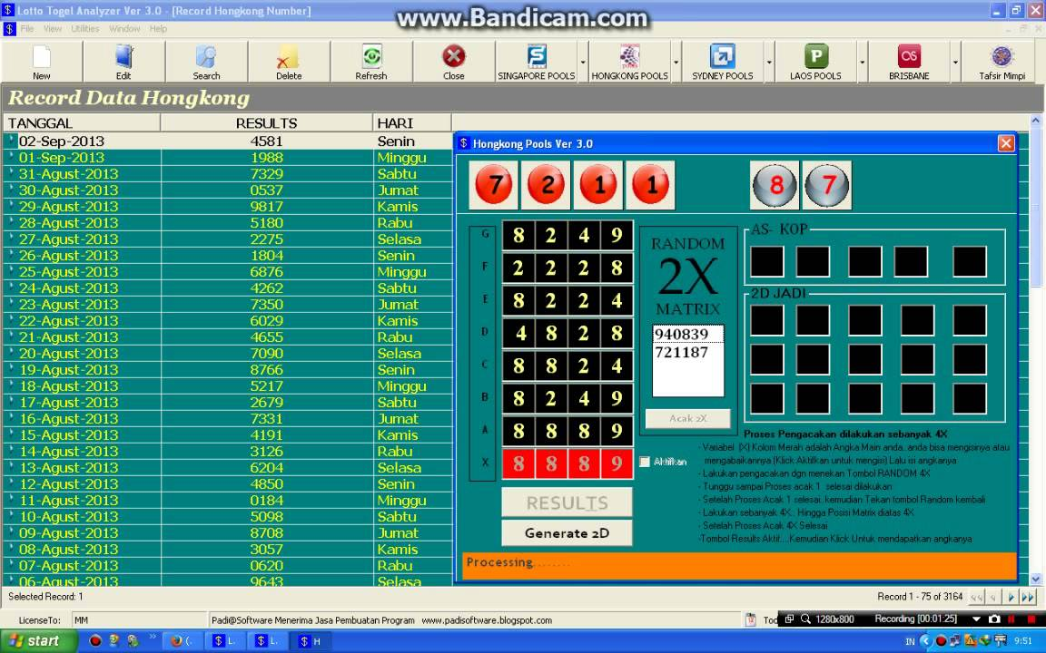 Lotto Togel Analzyer Ver 3 0 HK POOLS - YouTube