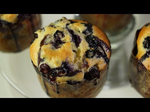 Blueberry Muffins Recipe – Bruno Albouze – THE REAL DEAL